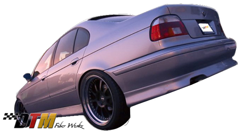 DTM Fiber Werkz BMW E39 HM Style Side Skirts Mounted FRP View 2