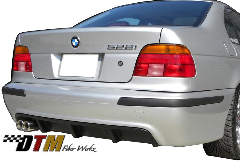 DTM Fiber Werkz BMW E39 5-Series DTM Style Rear Diffuser Single Exhaust Mounted
