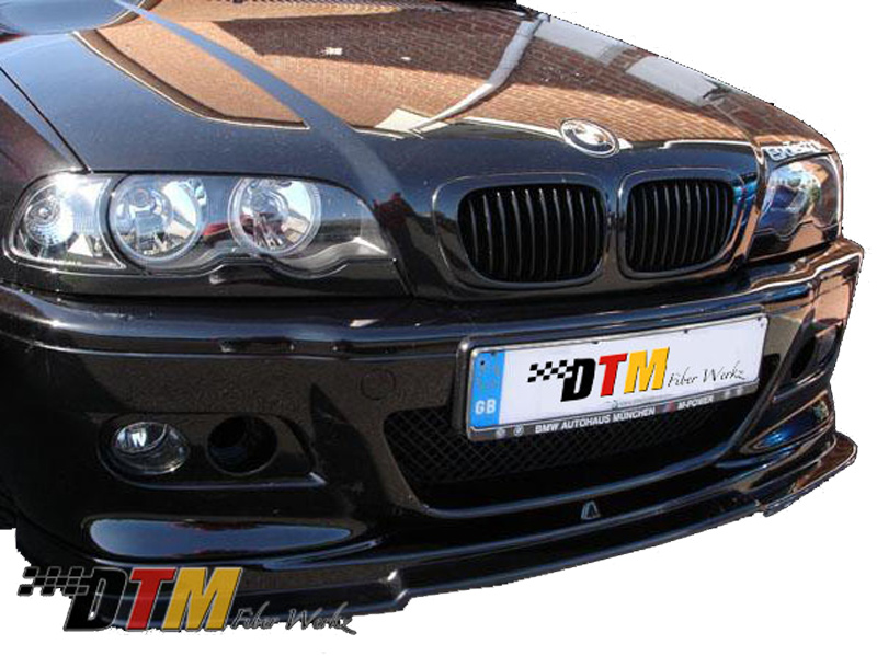 DTM Fiber Werkz BMW E46 M3 RG Style Front Lip View 1