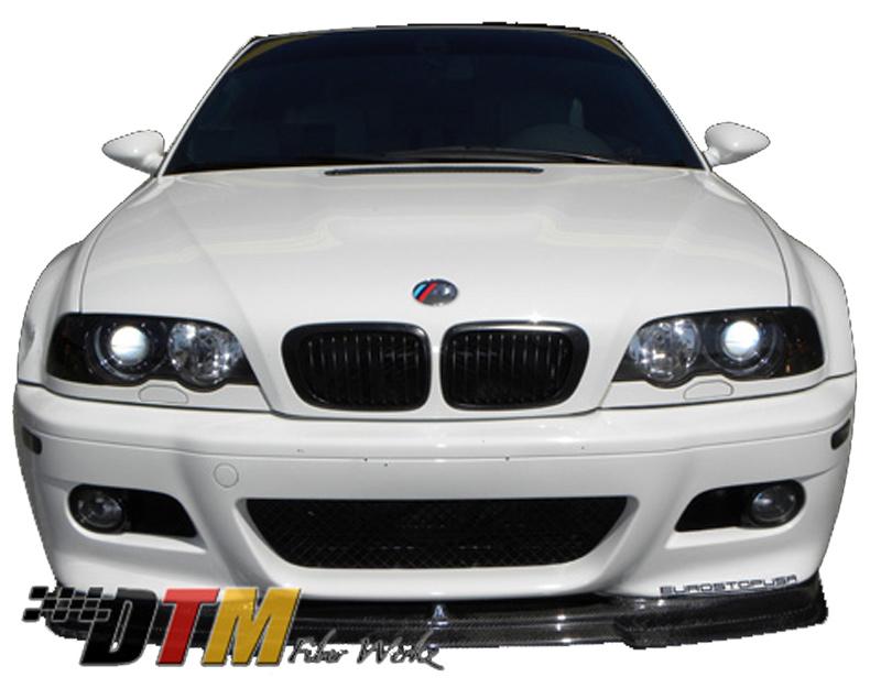 DTM Fiber Werkz BMW E46 M3 RG Style Front Lip View 3