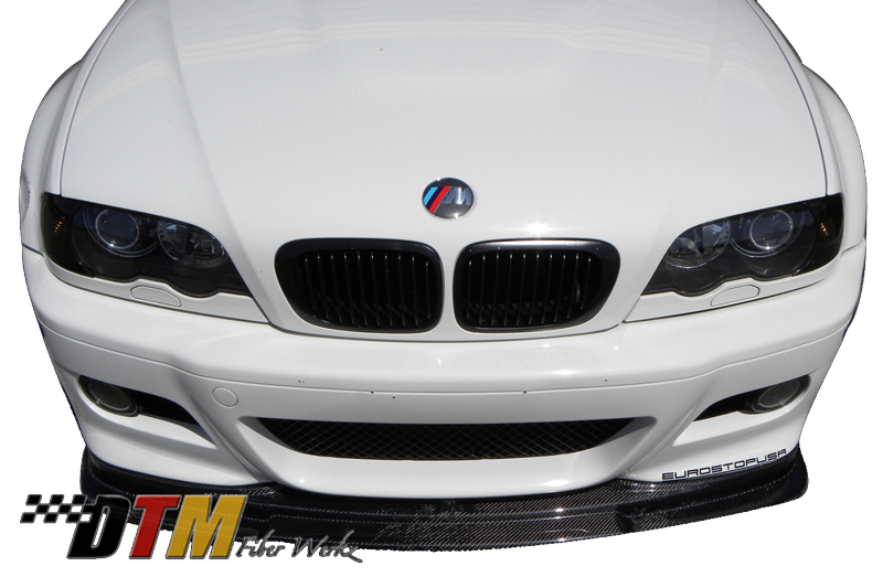 DTM Fiber Werkz BMW E46 M3 RG Style Front Lip View 4