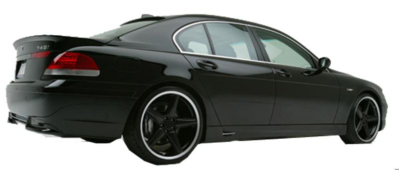 DTM Fiber Werkz BMW E65 ACS Style Rear Apron View 4