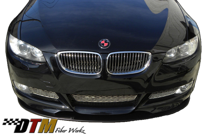 DTM Fiber Werkz BMW E92 Mtech Style Front Splitter Mounted