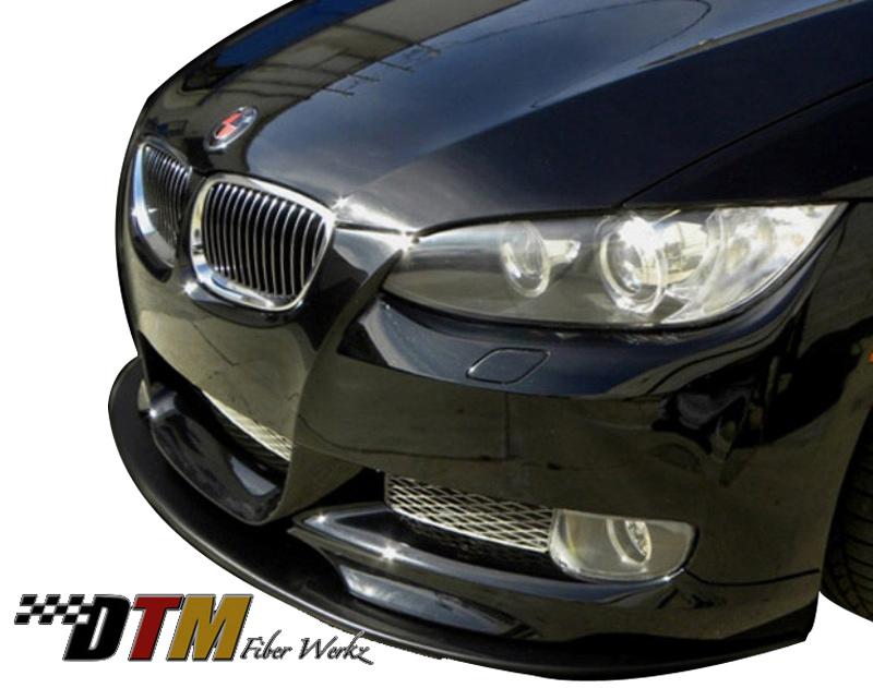 DTM Fiber Werkz BMW E92 Mtech Style Front Splitter Mounted 2