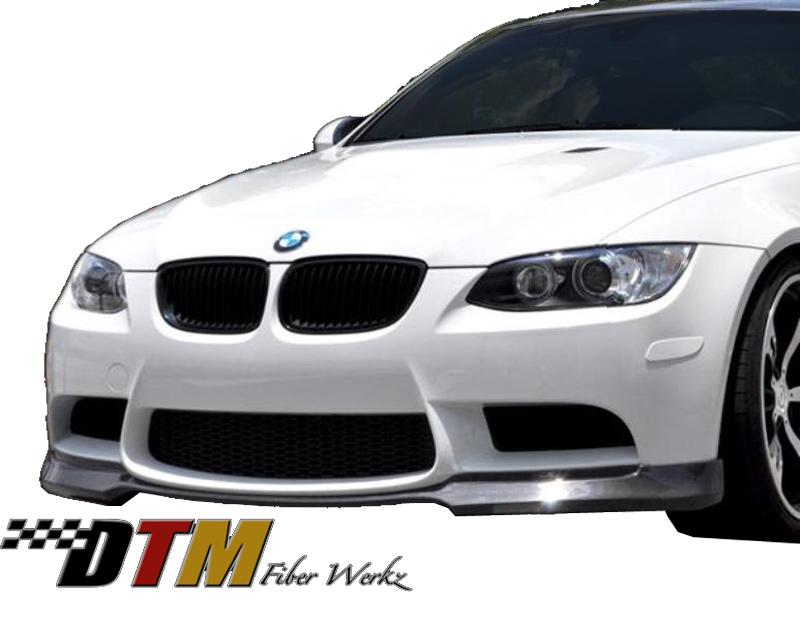 DTM Fiber Werkz BMW E9X M3 ACS Style Front Lip View 1