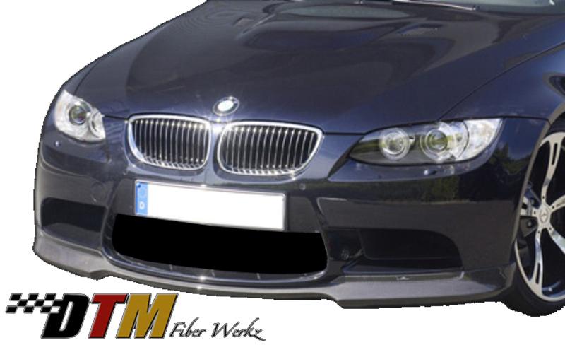 DTM Fiber Werkz BMW E9X M3 ACS Style Front Lip View 2