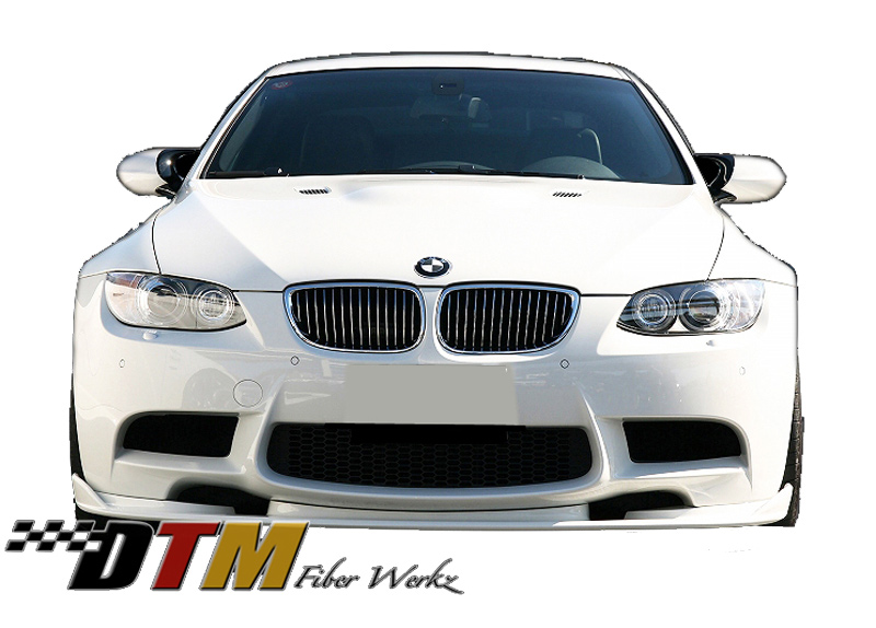 DTM Fiber Werkz BMW E9X M3 HM Style Front Lip View 1