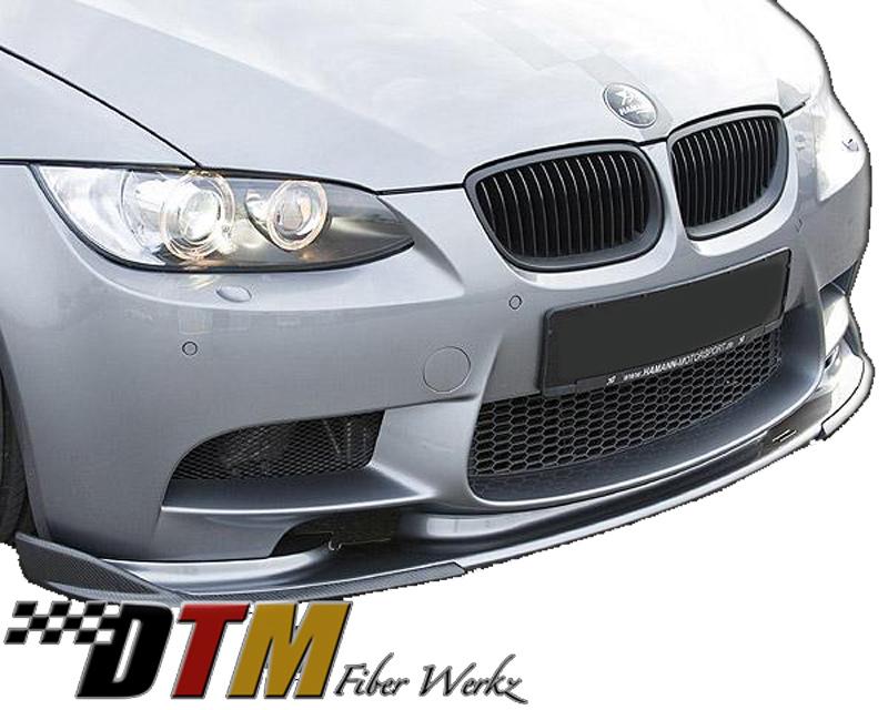 DTM Fiber Werkz BMW E9X M3 HM Style Front Lip View 2