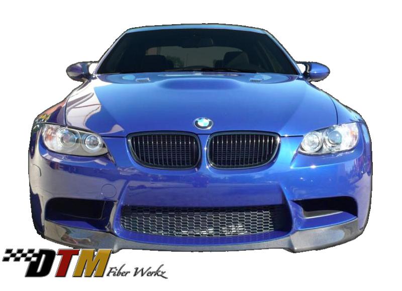 DTM Fiber Werkz BMW E9X M3 VRS Style Front Lip View 1