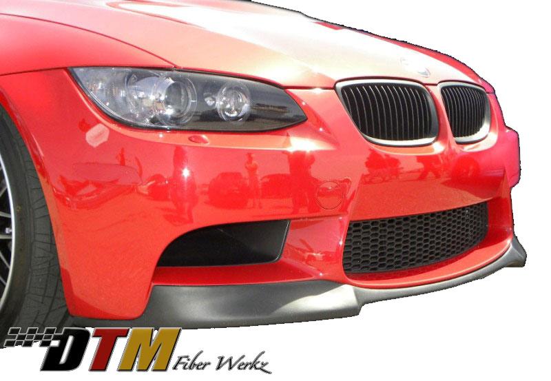 DTM Fiber Werkz BMW E9X M3 VRS Style Front Lip View 2