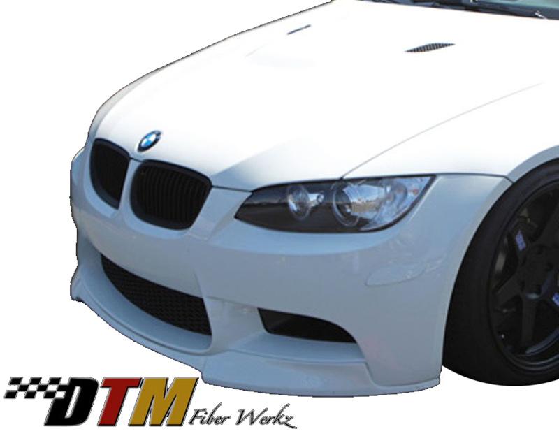 DTM Fiber Werkz BMW E9X M3 VRS Style Front Lip View 3