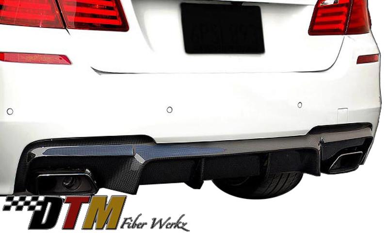 DTM Fiber Werkz BMW F10 Rear Diffuser for Mtech Bumper