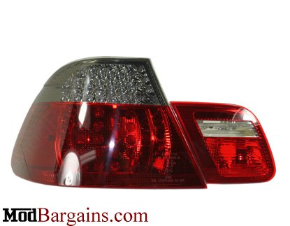 Smoked BMW E46 Coupe LED 4 Piece Taillight
