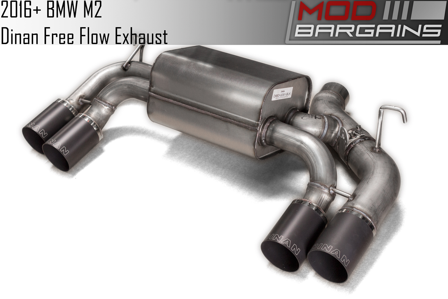 Dinan Free Flow Stainless Exhaust with Black Tips