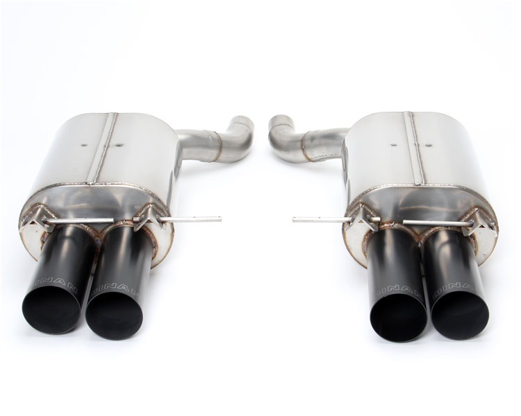 dinan free flow exhaust with black tips