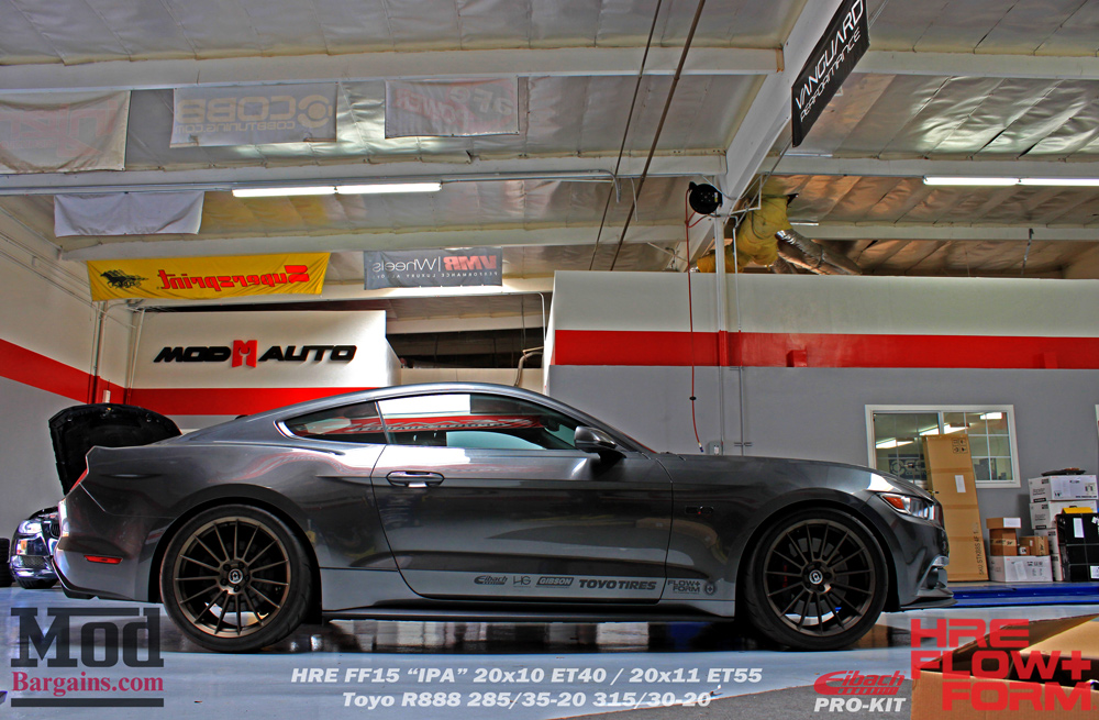 Eibach Pro-Kit Springs for 2015+ Ford Mustang GT 35145.140 on HRE FF15 Wheels