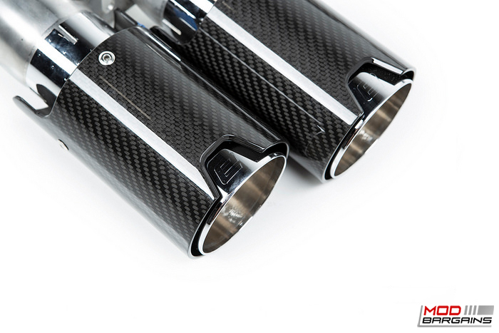 BMW carbon Fiber exhaust tips, Competition race exhasut system, F87 M2 Competition, comp, eisenmann, lemans,s55 engine , MODBARGAINS.COM