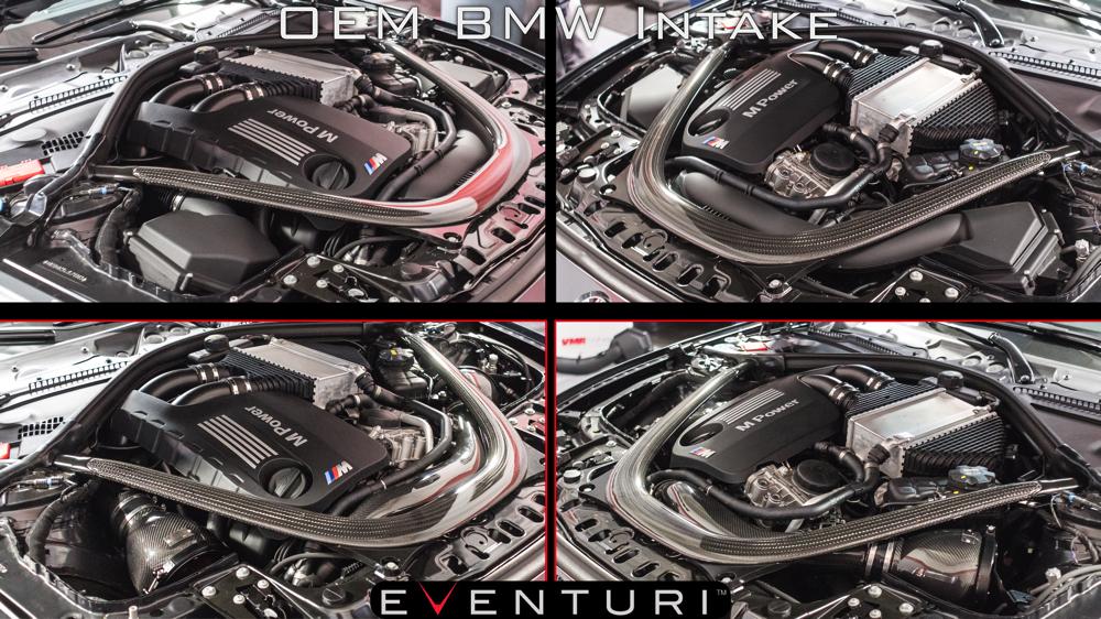 BMW M3/M4 F8X OEM Intake vs Eventuri EVE-F8XM-MT-INT