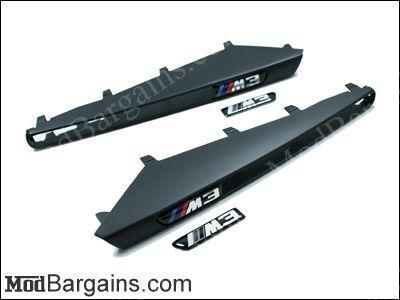 Matte Black Fender Grilles for BMW M3
