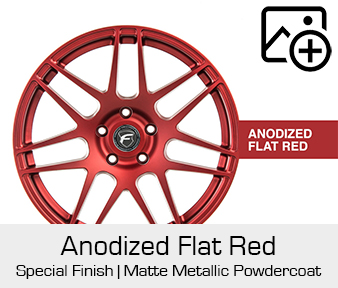 Forgestar Special Finish Anodized Matte Red