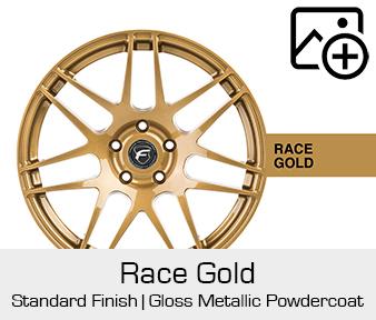 Forgestar Standard Finish Race Gold