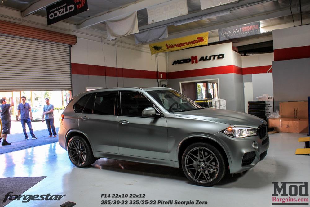 Forgestar F14 Wheels for BMW 22in 5x120mm on F15 BMW X5 22x10 22x12 Gunmetal
