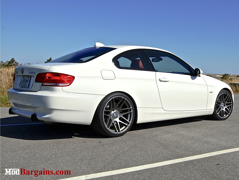 Forgestar F14 Super Deep Concave in Gunmetal on BMW E92 335i Front: 19x8.5 Rear: 19x10