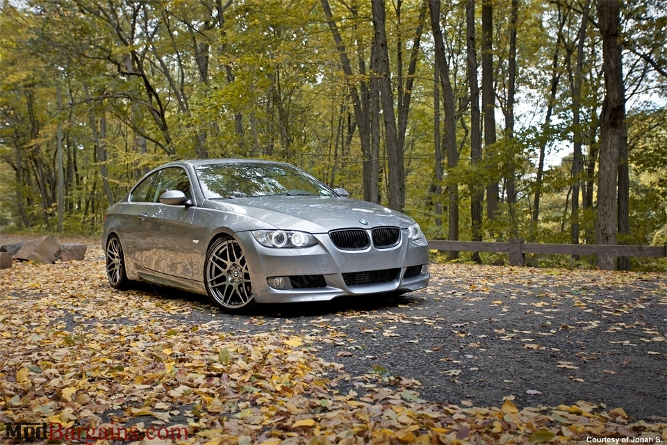 Titanium Forgestar F14 on E92 335i Front: 19x8.5 Rear: 19x10