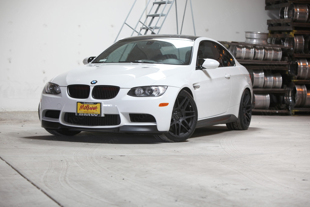 Matte Black Forgestar F14 on BMW E92 M3 Front: 19x9.0 Rear: 19x10
