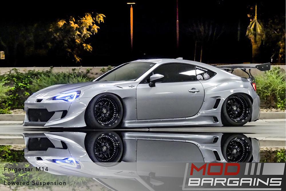 Scion FRS Subaru BRZ Toyota 86 Widebody Rocketbunny RB on Forgestar M14 2-piece Modular Wheels Modbargains