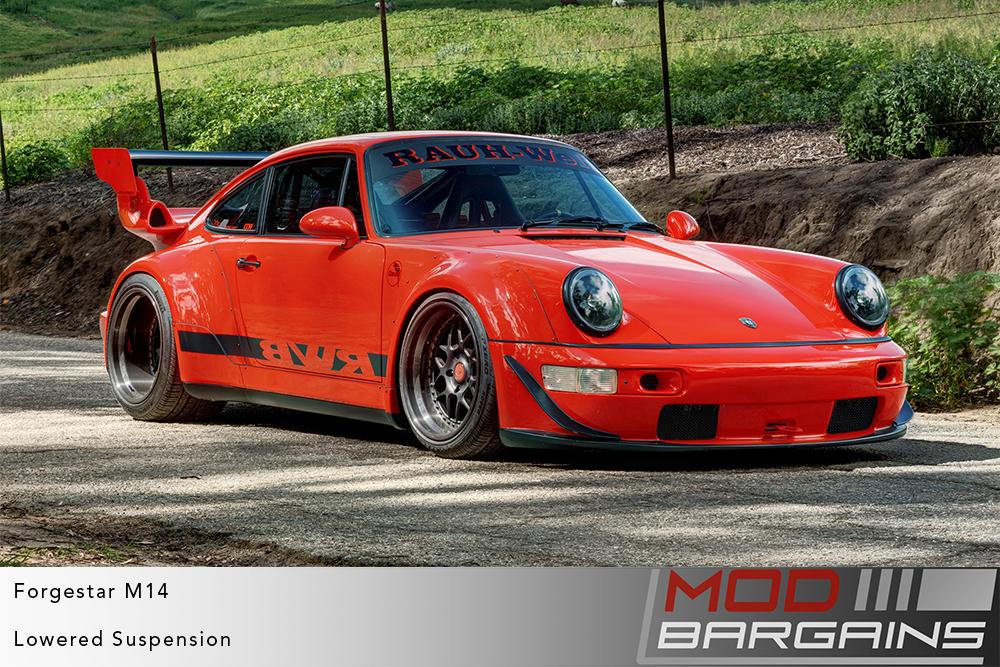 Porsche 911 964 RWB Widebody on Forgestar M14 2-piece Modular Wheels Modbargains