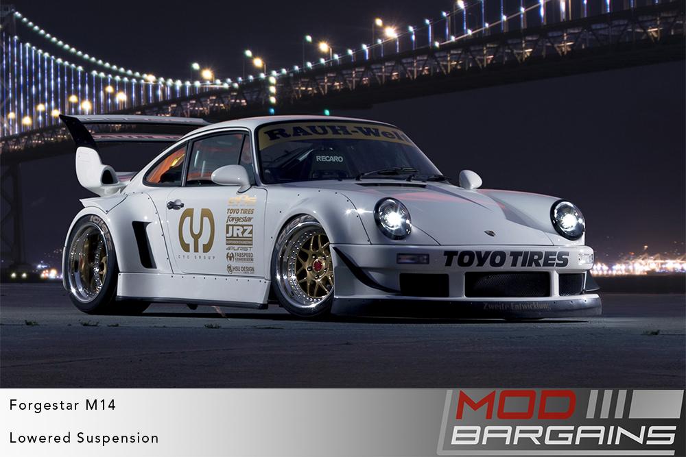 Porsche 911 964 RWB Widebody on Forgestar M14 2-piece Modular Wheels Toyo Tires Modbargains