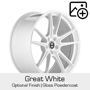 HRE Optional Finish Great White