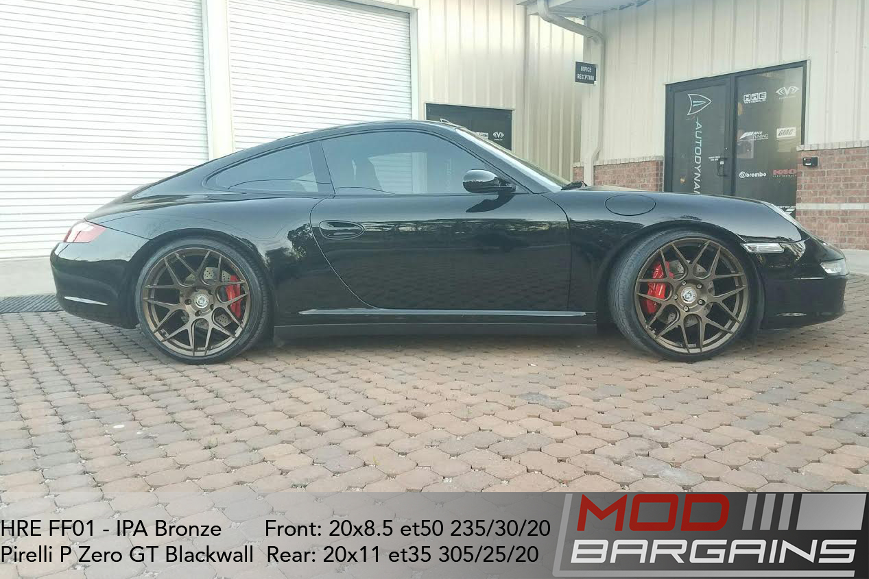 HRE FF01 IPA Bronze on Porsche Carrera 4S