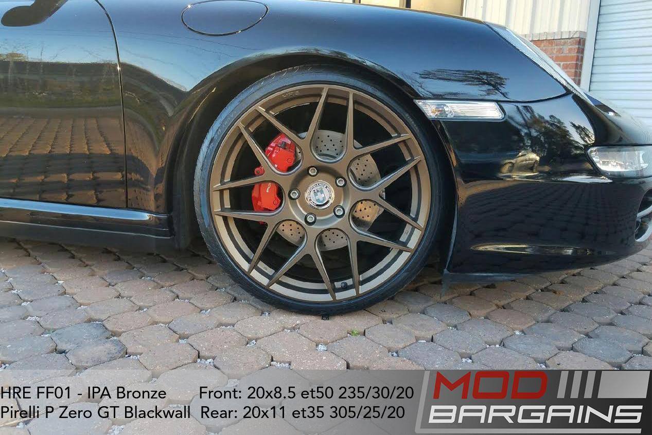 HRE FF01 IPA Bronze on Porsche 997.1 911 Carrera 4S