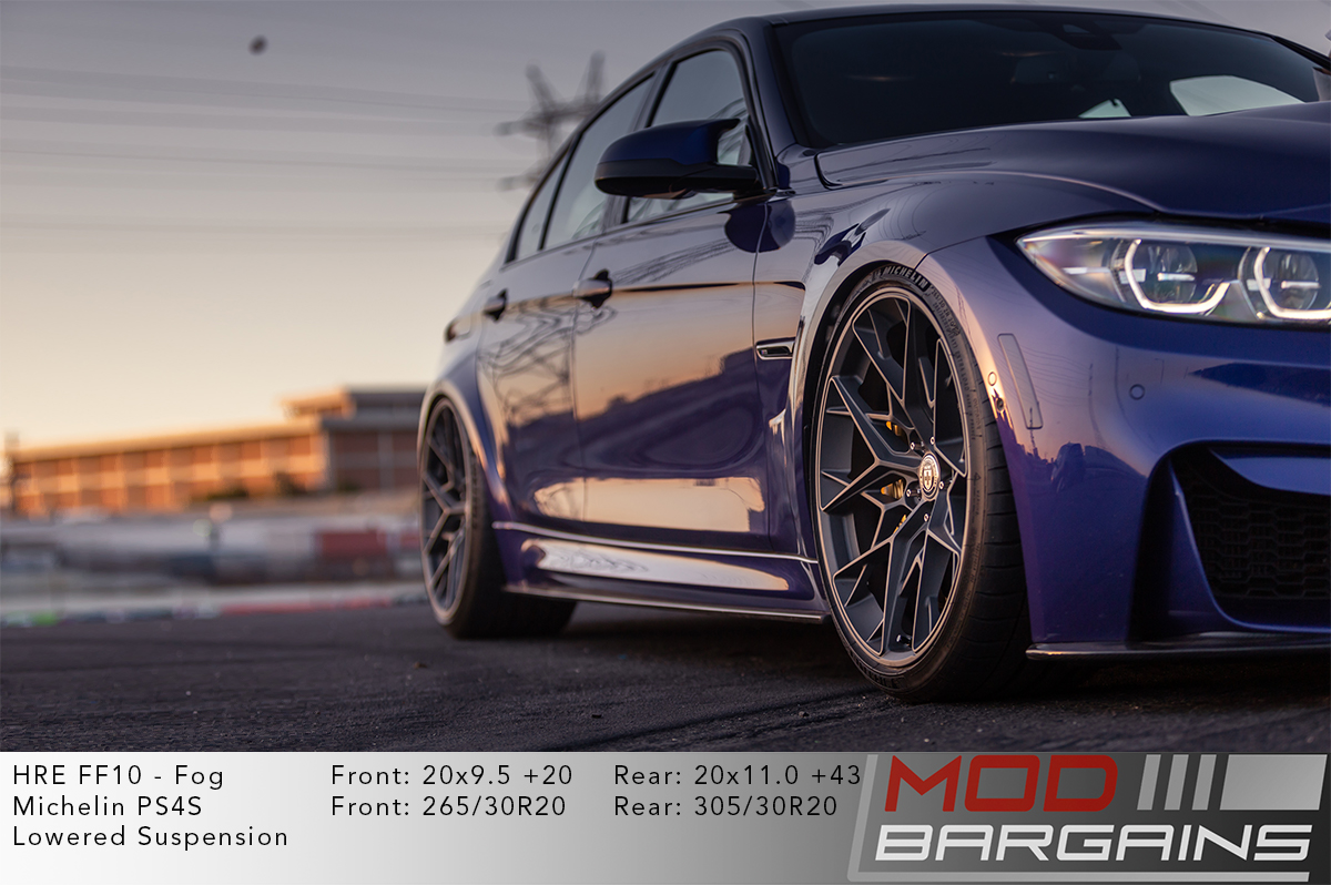 BMW F80 M3 on HRE FF10 Wheels Fog Matte Grey Gunmetal