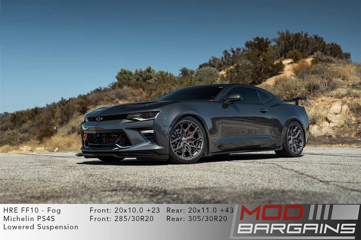 Gen 6 Chevy Camaro on HRE FF10 Wheels Fog Matte Grey Gunmetal