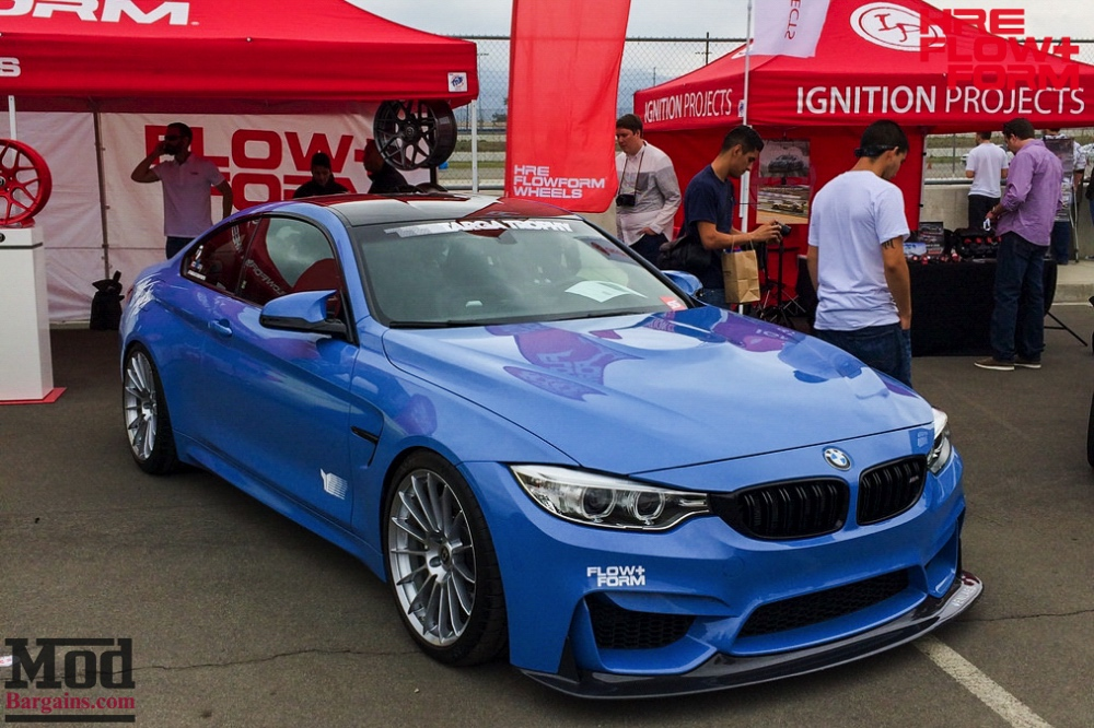 HRE Liquid Silver FF15 On Blue BMW M4