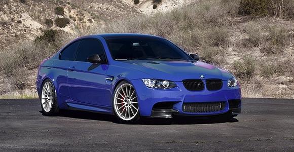 HRE Liquid Silver FF15's on Purple BMW E92