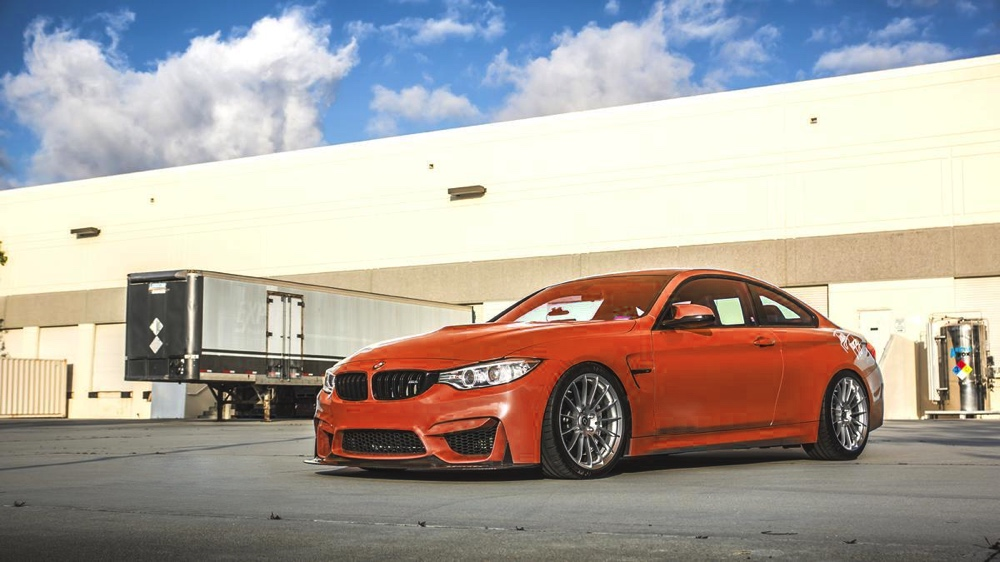 HRE Liquid Silver FF15 On Orange BMW M4