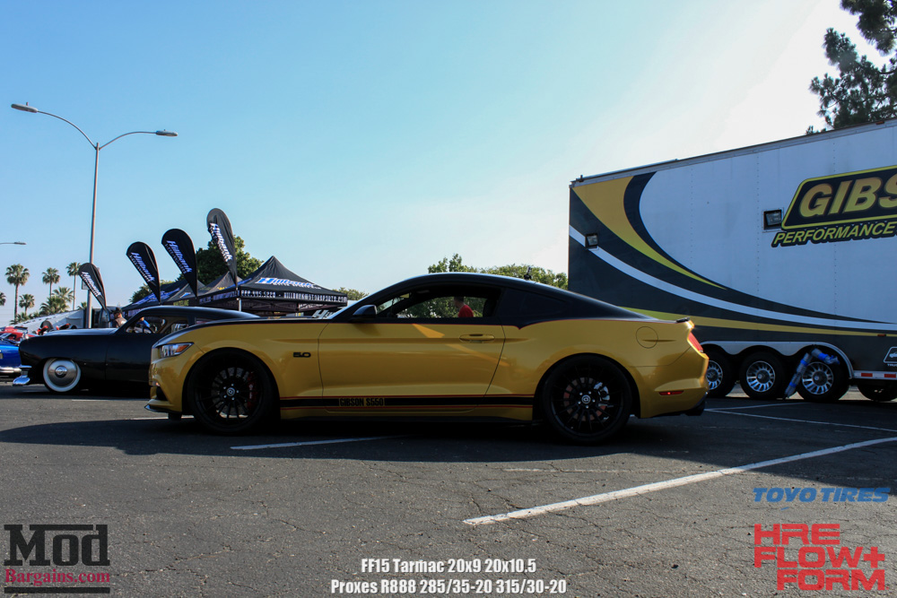HRE Tarmac Black FF15 On Yellow Mustang 5.0 Side