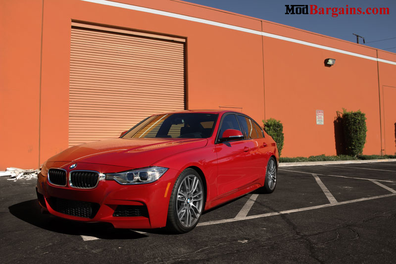 BMW F30 on H&R Sport Springs Installed 2