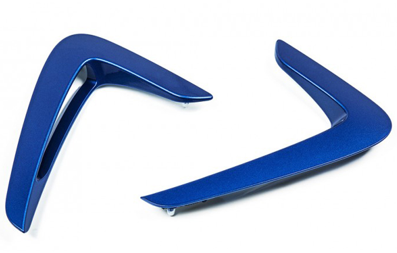 4 series f32 estoril blue and gloss black fender trim