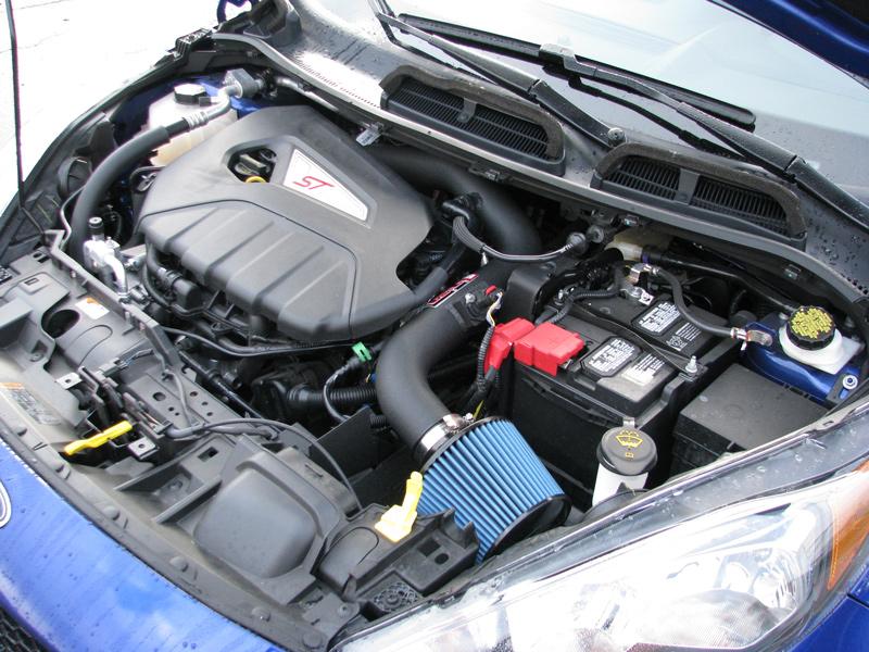 Ford Fiesta ST With Injen SP Wrinkle Black intake Installed SP9016WB SP9018WB