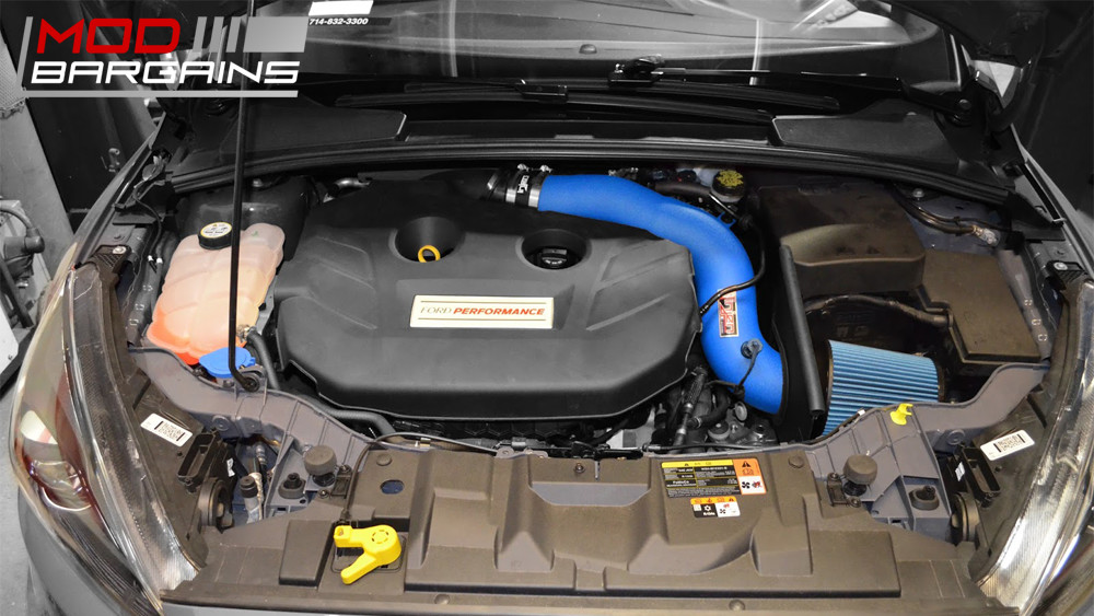 Injen SP9003 Cold Air Intake Ford Focus RS 2016 SP9003SE Hyper Blue Special Edition Finish Installed