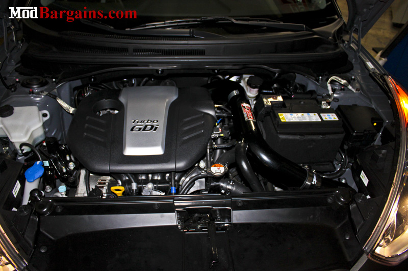 Injen Air Intake for Veloster 1.6L Turbo Engine Bay View