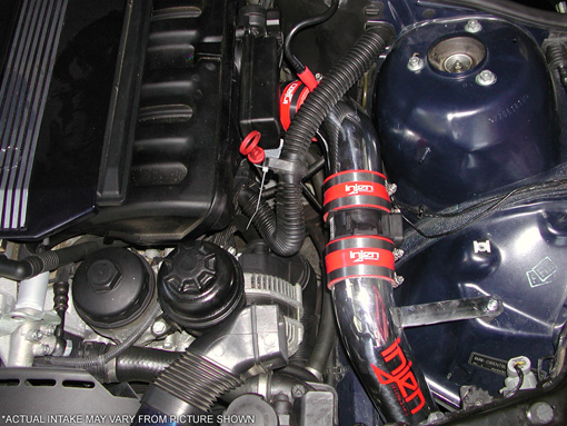 Injen Intake System for BMW E46 3 Series Installed