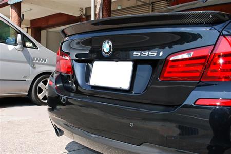 JL Motoring BMW F10 5 Series 3D Style Carbon Fiber Trunk Spoiler Rear Passenger