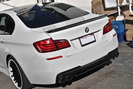 JL Motoring BMW F10 5 Series 3D Style Carbon Fiber Trunk Spoiler