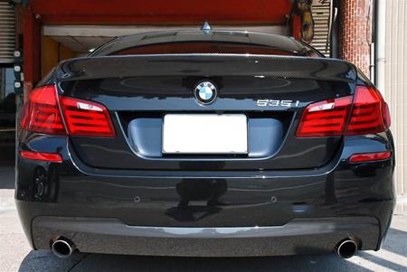JL Motoring BMW F10 5 Series ACS Style Carbon Fiber Trunk Spoiler Trunk View
